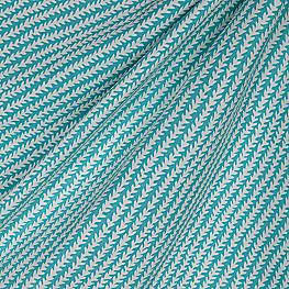 Striped Aqua Blue Vine Outdoor Fabric One Vine Day Aqua