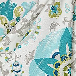 Aqua Blue Suzani Outdoor Fabric Sunzani Capri
