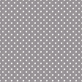 White & Gray Polka Dot Outdoor Fabric Polka Face Pewter