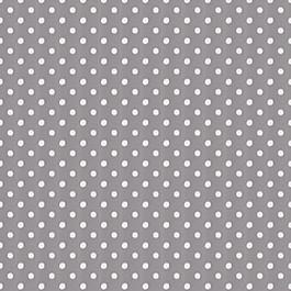 White & Gray Polka Dot Outdoor Fabric Polka Face Pewter