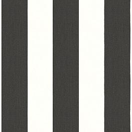 Black & White Awning Stripe Outdoor Fabric | Cabana Classic