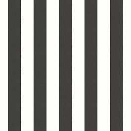 Black & White Awning Stripe Outdoor Fabric | Cabana Classic