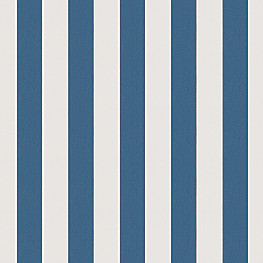 Royal Blue Awning Stripe Outdoor Fabric