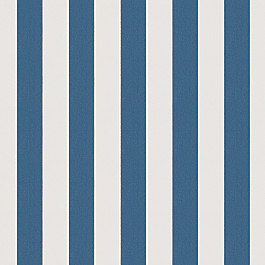Royal Blue Awning Stripe Outdoor Fabric | Cabana Regatta