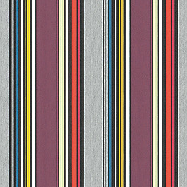 Purple Multicolor Striped Outdoor Fabric | Icon  Mystique