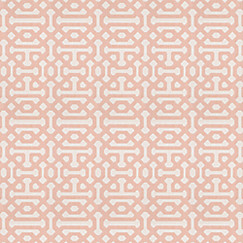 Trellis Fabric pale coral trellis outdoor fabric | fretwork cameo | loom decor