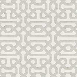 Light Gray Trellis Outdoor Fabric | Fretwork Pewter