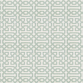 Pale Seafoam Trellis Outdoor Fabric | Fretwork Mist
