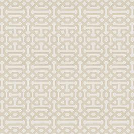 Light Tan Trellis Outdoor Fabric | Fretwork Flax