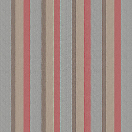 Red Blue Tan Stripe Outdoor Fabric | Gateway Blush