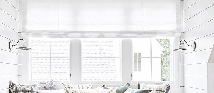 Gray Roman Shades Fabric Roman Shades Loom Decor