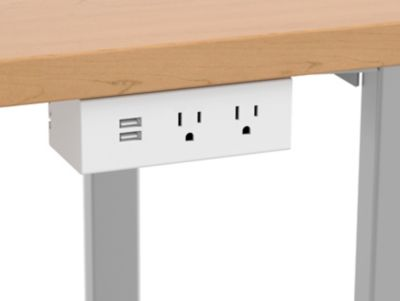 Under Worksurface - 2 Receptacles 1 USB Electrical