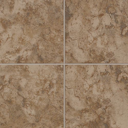 Pavin Stone Floor Brown Suede