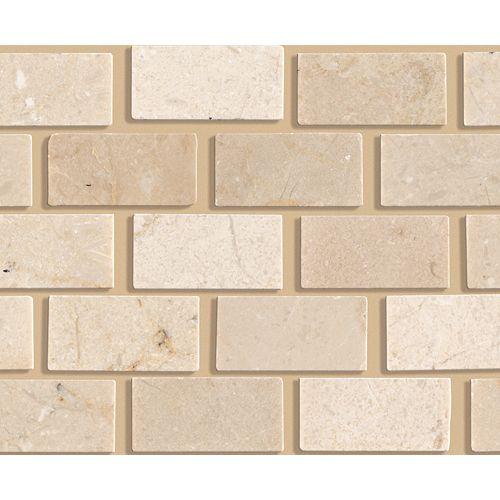 Mohawk Industries Stone Crema Marfil Ceramic & Porcelain Tile ...