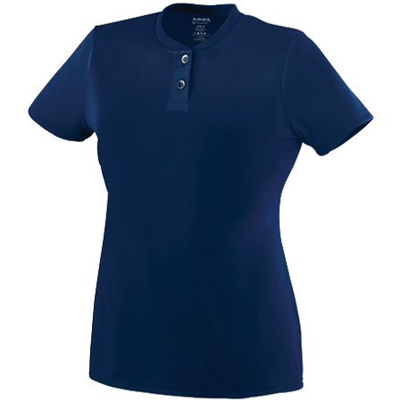 Ladies Wicking Two-Button Jersey
