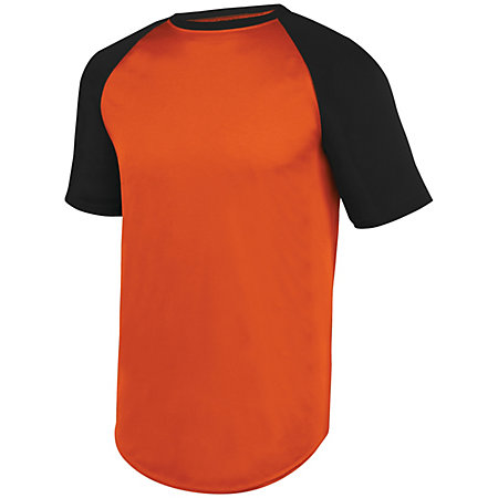 Wicking Short Sleeve Baseball Jersey