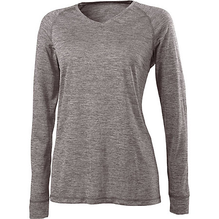 Ladies Electrify 2.0 V-Neck Long Sleeve Shirt