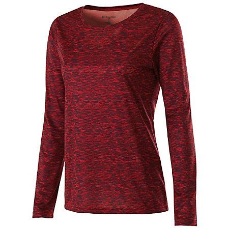 Ladies L/S Space Dye Shirt