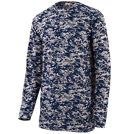 Youth Digi Camo Wicking Long Sleeve T-Shirt