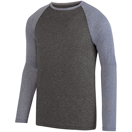 Kinergy Two Color Long Sleeve Raglan Tee