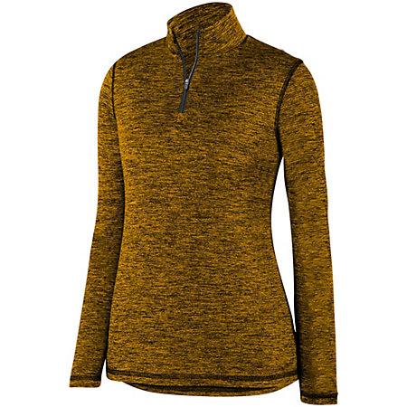 Ladies Intensify Black Heather 1/4 Zip Pullover