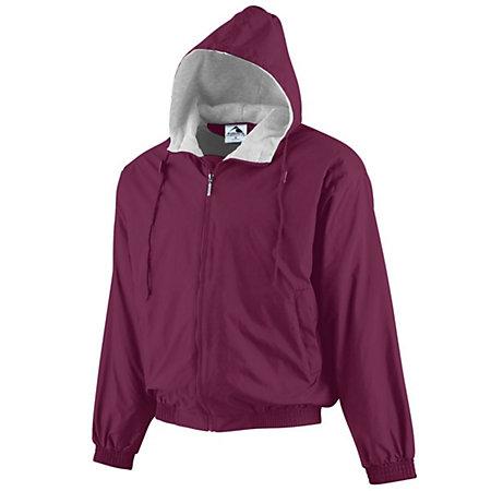 Hooded Taffeta Jacket/Fleece Lined