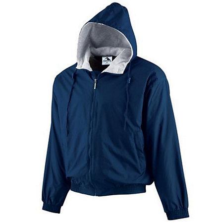 Youth Hooded Taffeta Jacket/Fleece Lined