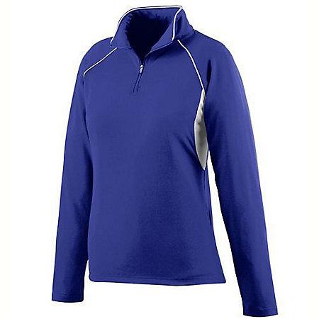 Ladies Poly/Spandex Half-Zip Pullover