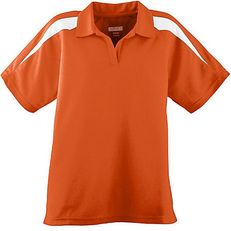 Ladies Wicking Textured Color Block Polo