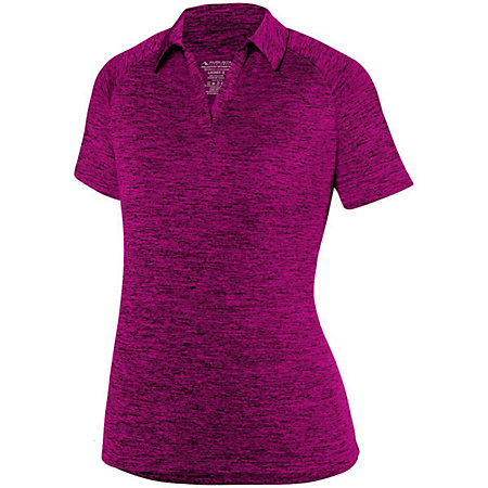 Ladies Intensify Black Heather Polo