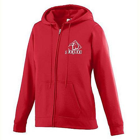 Girls Wicking Fleece Full Zip Hooded Sweatshirt