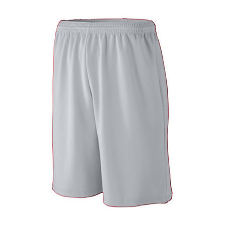 Youth Longer Length Wicking Mesh Athletic Short