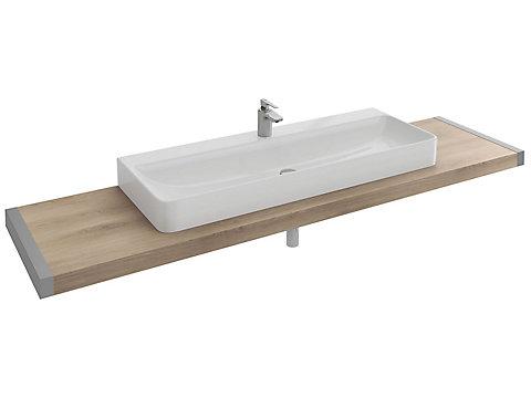 Plan de toilette 180 cm avec 1 découpe pour vasque à poser