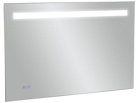 Miroir 100 cm, éclairage LED, anti-buée et horloge