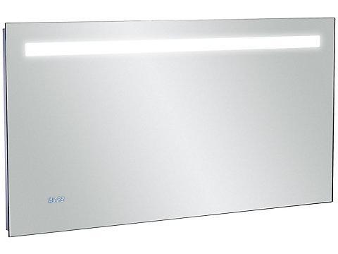 Miroir 120 cm avec éclairage LED, anti-buée et horloge