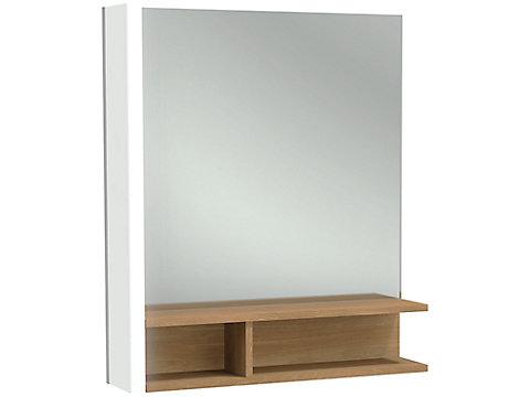 Miroir 60 cm, éclairage à gauche