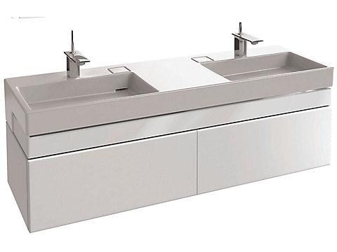 Meuble sous plan-vasque 150 cm - 2 tiroirs - Laqué