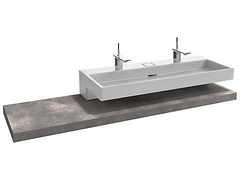 Table 180 cm, sans découpe, stratifié