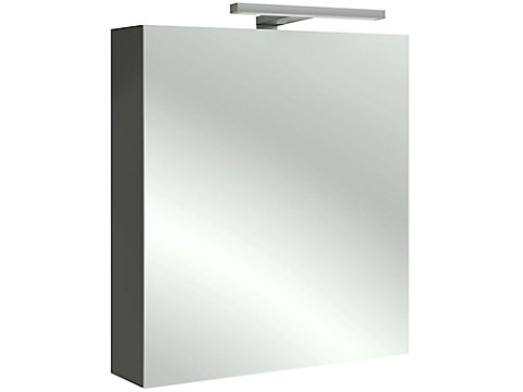 Armoire de toilette 60 cm, gauche, avec éclairage LED