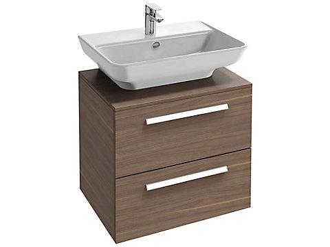 Meuble 65 cm pour lavabo, 2 tiroirs