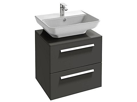 Meuble 60 cm pour lavabo, 2 tiroirs