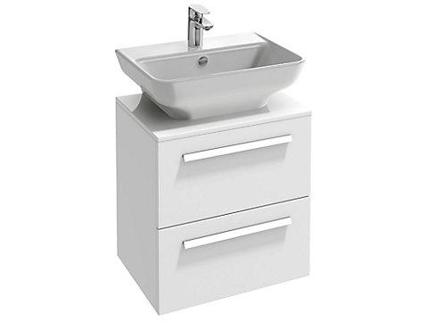 Meuble 55,5 cm pour lavabo, 2 tiroirs