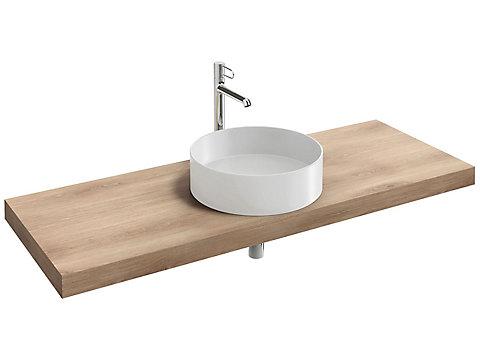 Plan de toilette 140 cm, 1 découpe, stratifié
