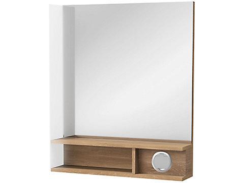 Miroir Premium 60 cm, éclairage à gauche