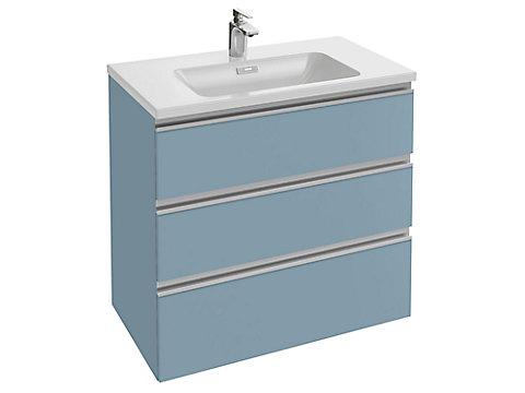 Meuble sous plan-vasque 80 cm 3 tiroirs, poignée intégrée