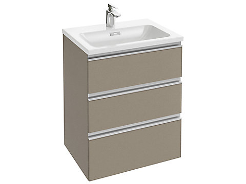 Meuble sous plan-vasque 60 cm 3 tiroirs, poignée intégrée