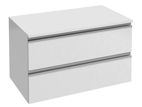 Commode 80 cm, 2 tiroirs, poignée intégrée
