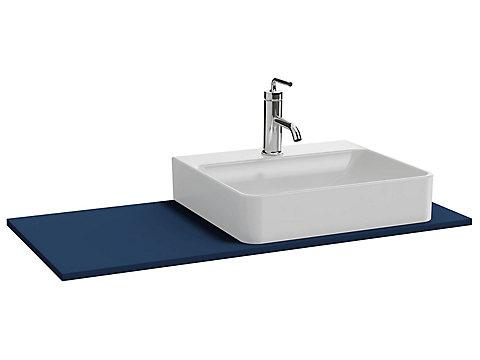 Plateau 100 cm découpe droite pour vasque à poser avec plage de robinetterie