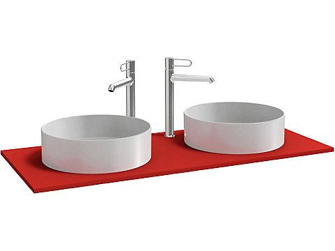 Plateau pour 2 vasques à poser 120 cm