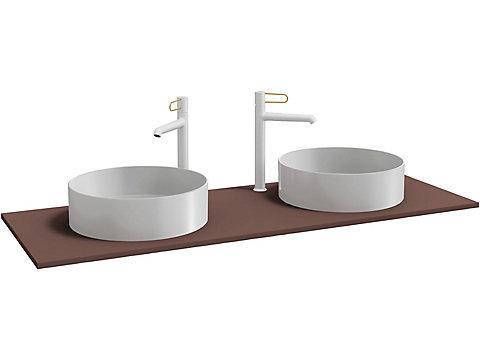 Plateau pour 2 vasques à poser 140 cm